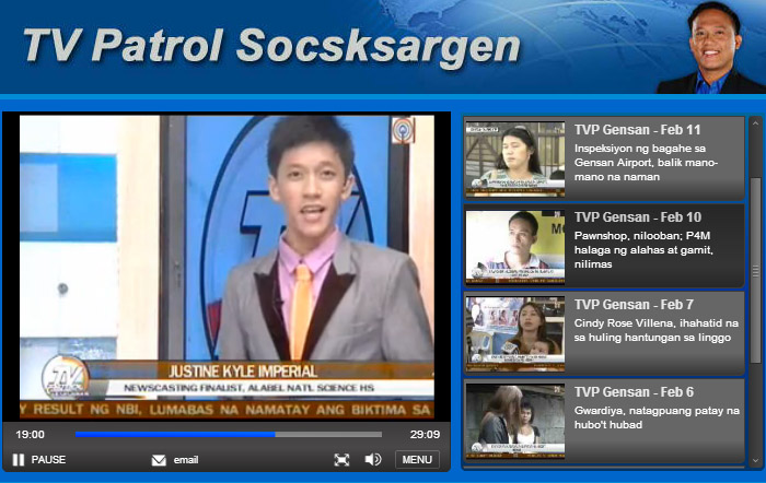 TV Patrol newscasting competition