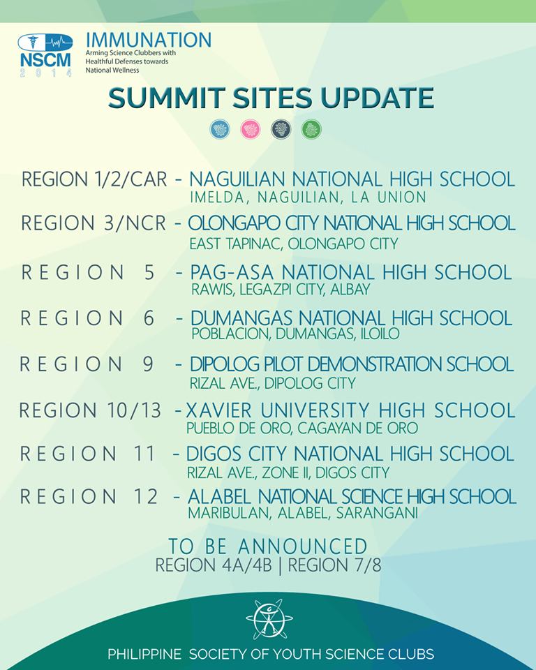 psysc summit sites 2014